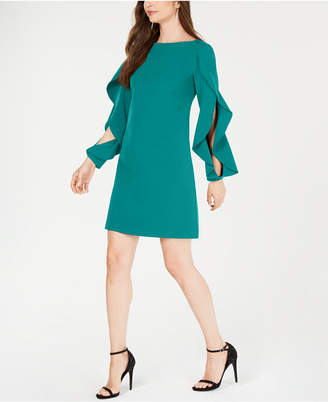 Vince Camuto Ruffled-Sleeve Shift Dress