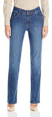 Lee Indigo Women's Jane Stretch Twill Straight-Leg Pant