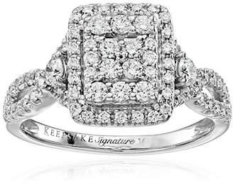 Keepsake Signature 14k Gold Diamond Pave Engagement Ring (1cttw
