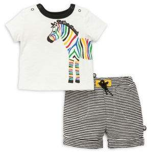 Offspring Baby Boy's Two-Piece Zebra Set