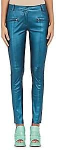 Sies Marjan Women's Louisa Leather Biker Pants - Dark Petrol