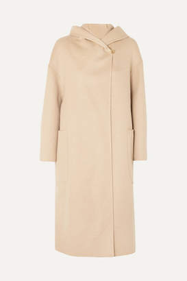 Max Mara Oversized Hooded Camel Hair Coat - Beige