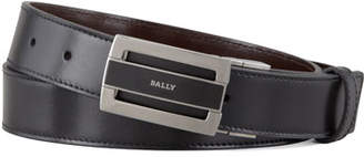 Bally Fabazia Reversible Logo Belt, Brown