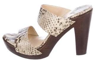 Jimmy Choo Embossed Slide Sandals