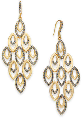 INC International Concepts I.N.C. Gold-Tone Polished & Pavé Chandelier Earrings, Created for Macy's