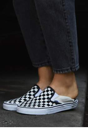 Classic Checkered Slip On by Vans at Free People $50 thestylecure.com