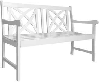 Vifah Bradley Two-Seater Wooden Garden Bench