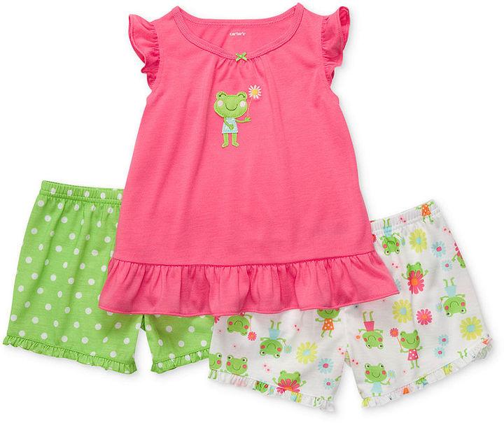Carter's Baby Set, Baby Girls Three-Piece Pajamas