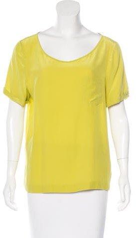 Kate SpadeKate Spade New York Short Sleeve Silk Top