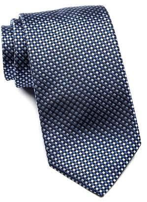 BOSS Checker Pattern Silk Tie