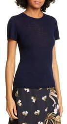 Vince Short Sleeve Wool & Cashmere Blend Sweater
