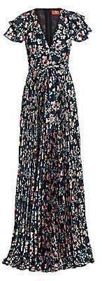 ML Monique Lhuillier Women's Floral Maxi Dress - Size 0