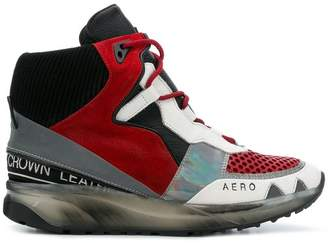 Leather Crown Aero hi-top sneakers