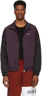 Givenchy Purple and Black Two-Toned Tracksuit Jacket