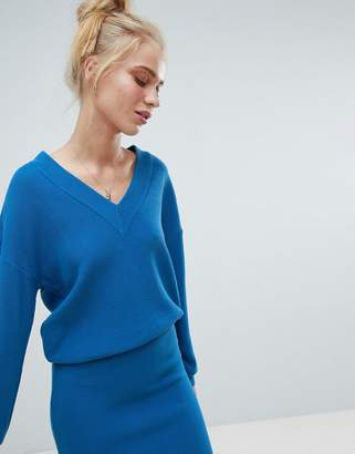 Asos Design DESIGN two-piece sweater with v neck