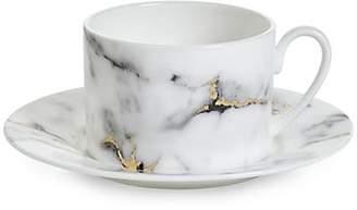 Prouna Marble Tea Cup & Saucer Set
