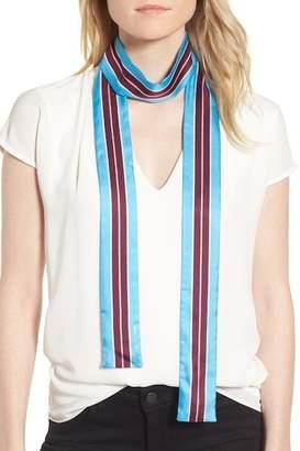 Kate Spade Geo Stripe Medium Skinny Silk Scarf