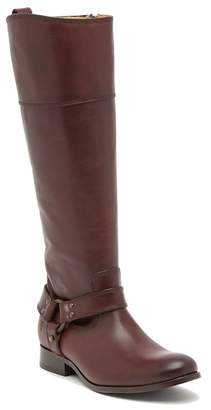 Frye Melissa Harness Inside Zip Leather High Boot - Extended Calf Size Available