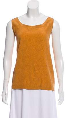 Ellen Tracy Silk Sleeveless Print Top