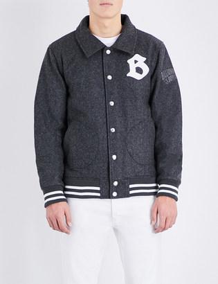 BILLIONAIRE BOYS CLUB Brand logo wool-blend jacket $340 thestylecure.com