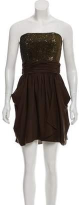 Alice + Olivia Embellished Strapless Dress w/ Tags