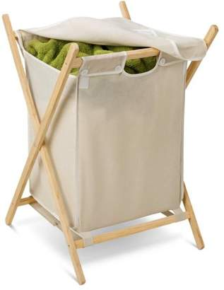 Honey-Can-Do Folding Laundry Hamper with Removable Bag, Natural/Beige