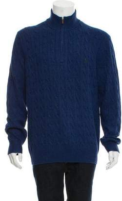 Polo Ralph Lauren Cable Knit Zip-Up Sweater
