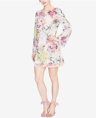 Rachel Roy Bell-Sleeve Floral Printed Lace Dress