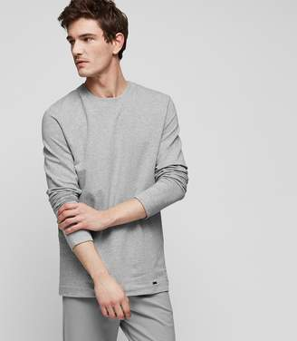 Reiss Our last order date for Christmas has now passed HANRO SWEATSHIRT CREW NECK SWEATSHIRT Grey