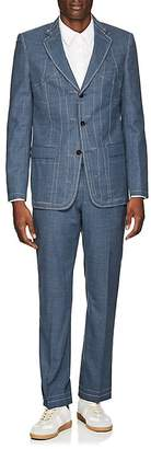 Maison Margiela MEN'S WOOL THREE-BUTTON SUIT