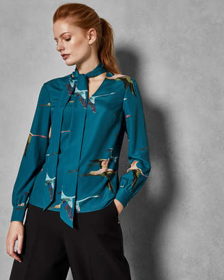 Ted Baker RHETTA Tie neck blouse
