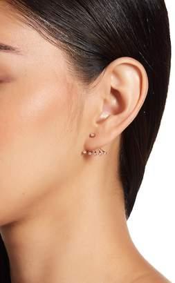 Ef Collection 14K Rose Gold Bezel Set Diamond Ear Jacket Earrings