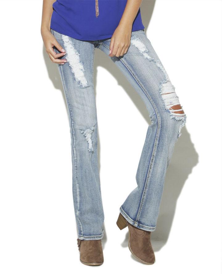 Wet Seal Vanilla Star Boot Cut Jean