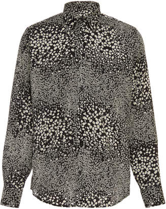 Givenchy Floral-Print Cotton-Poplin Shirt