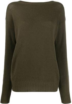 Prada ribbed knitted jersey top
