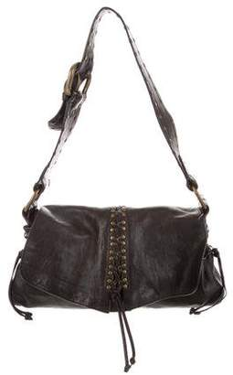 Kooba Studded Leather Shoulder Bag