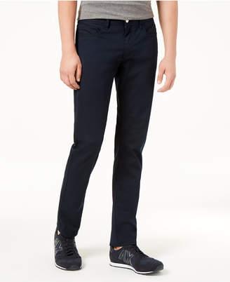 Armani Exchange Men's Straight Fit Stretch Navy Pants