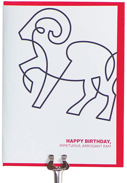 Aries Zodiac Birthday Greeting Card - Set of Two
