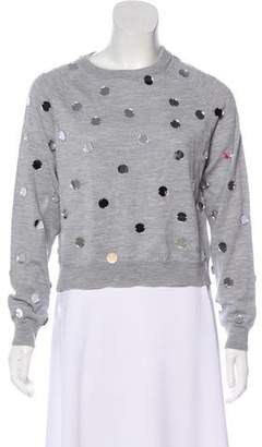 Paper London Crew Neck Embellished Sweater
