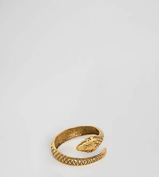 Regal Rose Lucifer gold plated snake wrap around adjustable ring