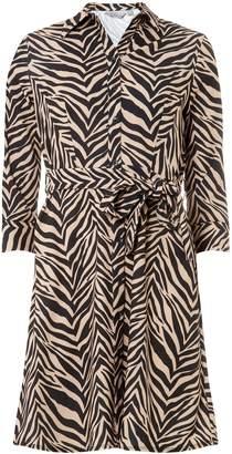461cf1a6f341 Dorothy Perkins Womens Petite Multi Colour Zebra Print Shirt Dress