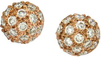 Couture Sethi Diamond Pave Ball Stud Earrings