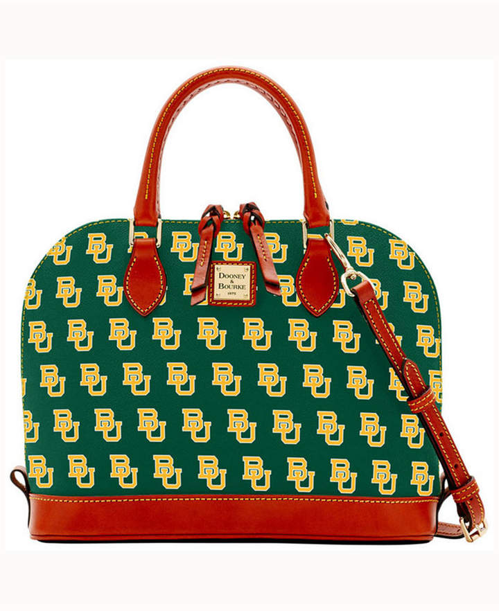 Dooney & Bourke Baylor Bears Zip-Zip Satchel - GREEN - STYLE