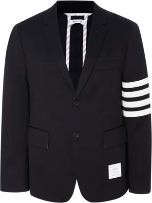 Thom Browne Unconstructed Striped Cotton-Twill Blazer