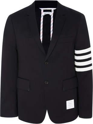 Thom Browne Unconstructed Striped Cotton-Twill Blazer