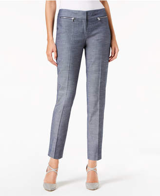 Nine West Cotton Slim-Leg Denim Pants