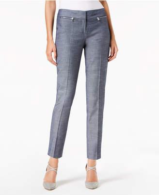 Nine West Cotton Slim-Leg Denim Pants