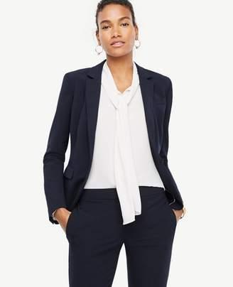 Ann Taylor Tall Seasonless Stretch One Button Perfect Blazer