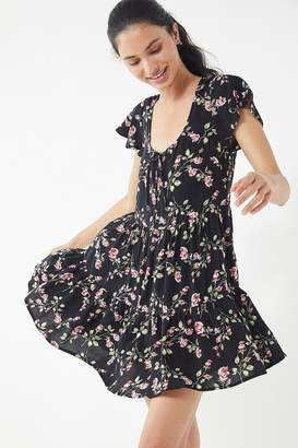 Urban Outfitters Floral Tiered Babydoll Dress