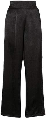 MISA Los Angeles satin high-waisted trousers